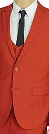 Vittorio St. Angelo US631V-Brick - Mens Ultra Slim Fit Stretch Suit