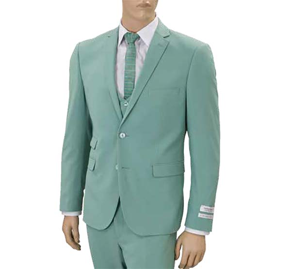 Vittorio St. Angelo US631V-Seafoam - Mens Ultra Slim Fit Stretch Suit