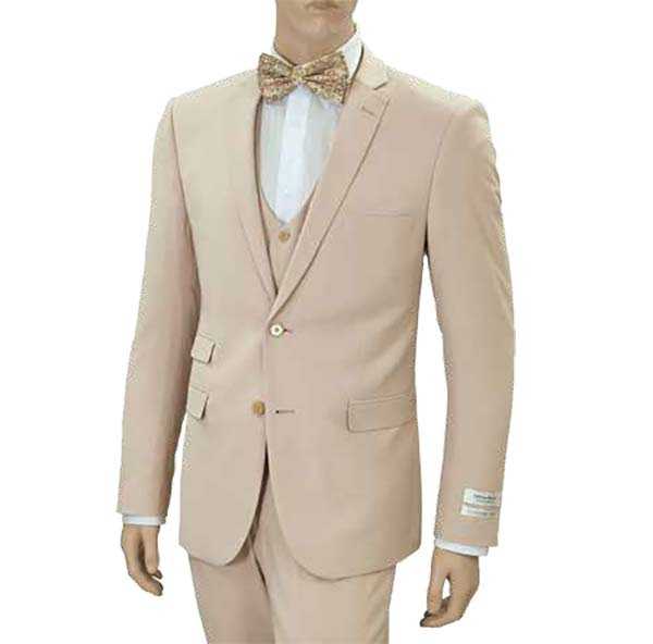 Vittorio St. Angelo US631V-Tan - Mens Ultra Slim Fit Stretch Suit