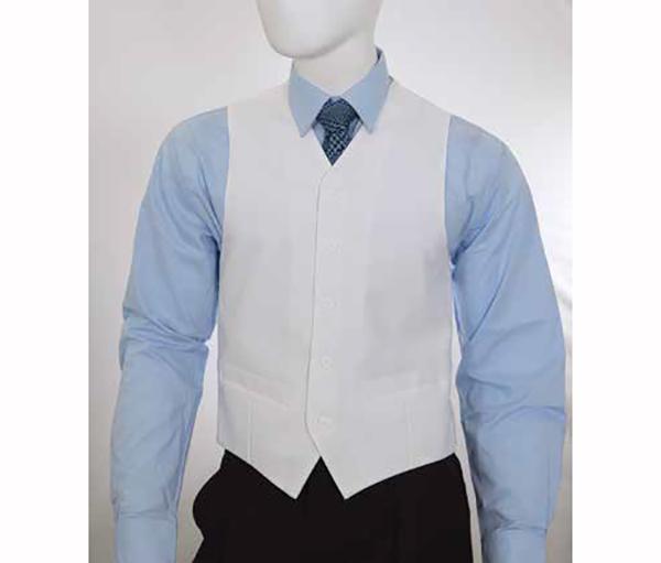 Vittorio St. Angelo V752TA-White Five Button Single Breasted Mens Vest
