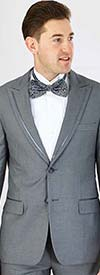 Vittorio St. Angelo YM62N Mens Modern Fit Two Piece Peak Lapel Tuxedo