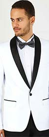 Vittorio St. Angelo YS61S-White - Two Piece Slim Fit Mens Tuxedo