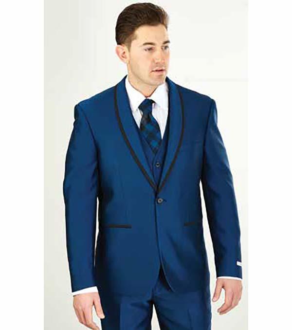 Vittorio St. Angelo FS61V-Monaco - Mens Three Piece Slim Fit Evening Suit