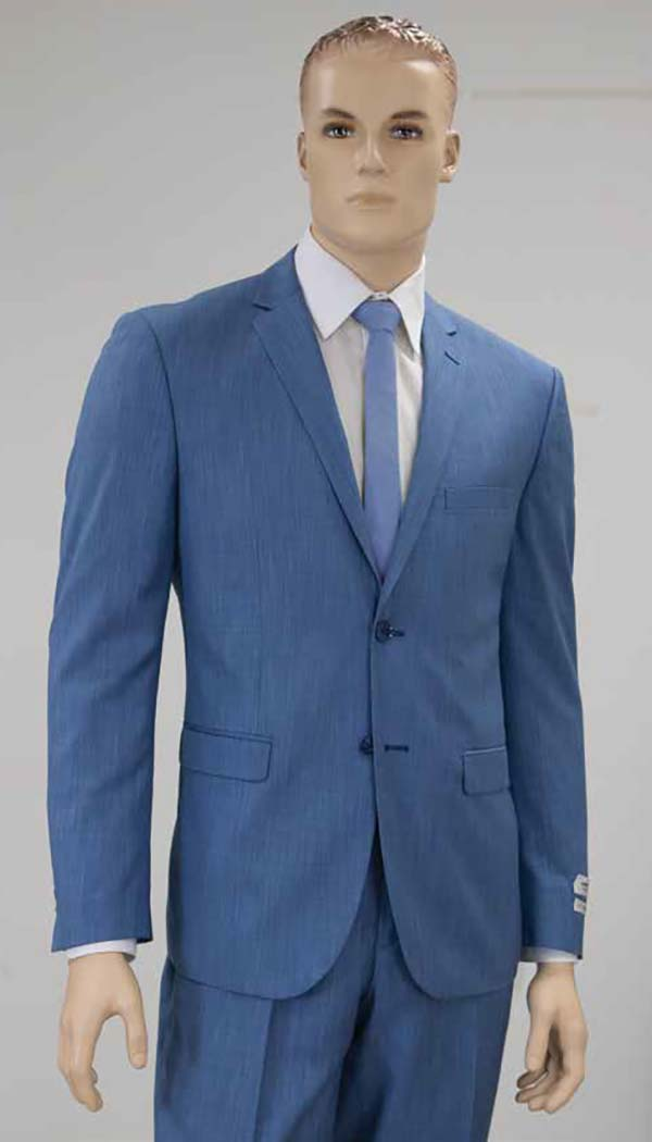 Vittorio St. Angelo S62DM-Denim - Mens Two Piece Slim Fit Church Suit
