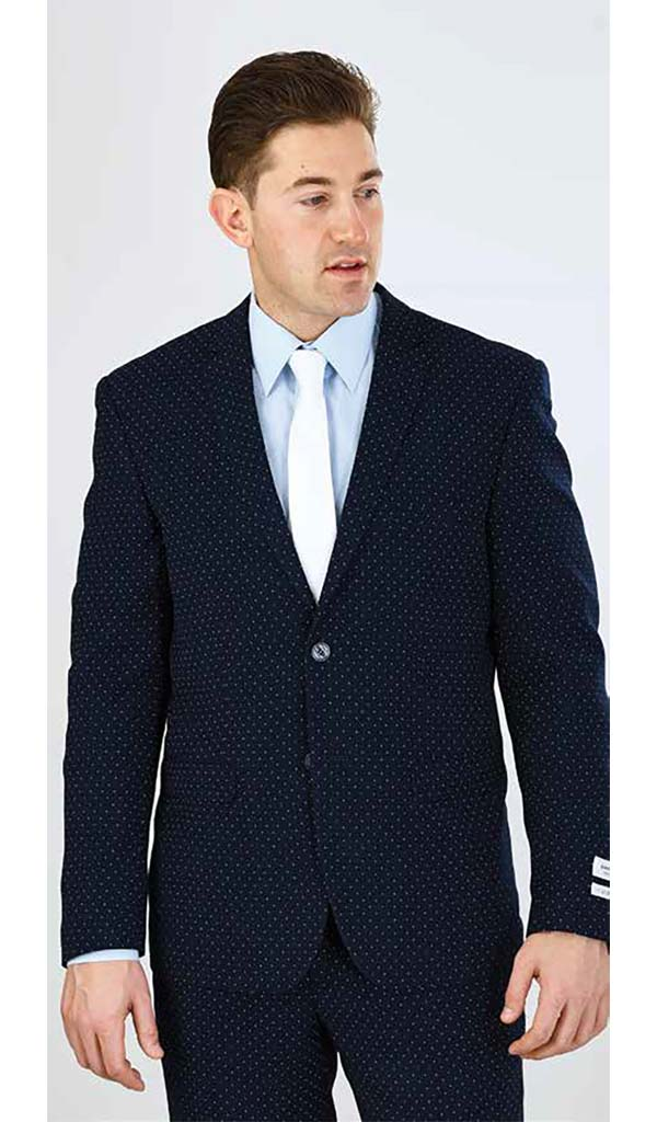 Vittorio St. Angelo S62DT - Mens Two Piece Slim Fit Polka Dot Suit