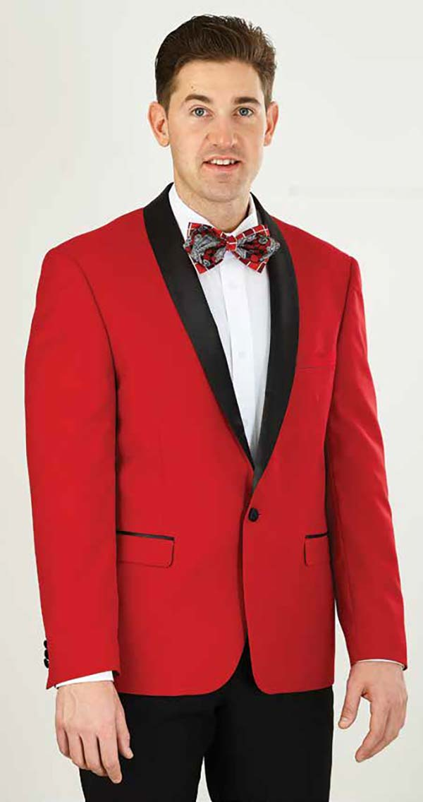 Vittorio St. Angelo YS61S-Red - Two Piece Slim Fit Mens Tuxedo