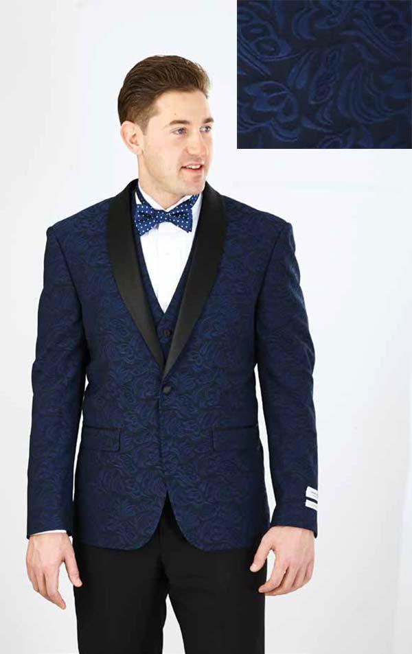 Vittorio St. Angelo YS61V-Cobalt - Three Piece Slim Fit Mens Tuxedo