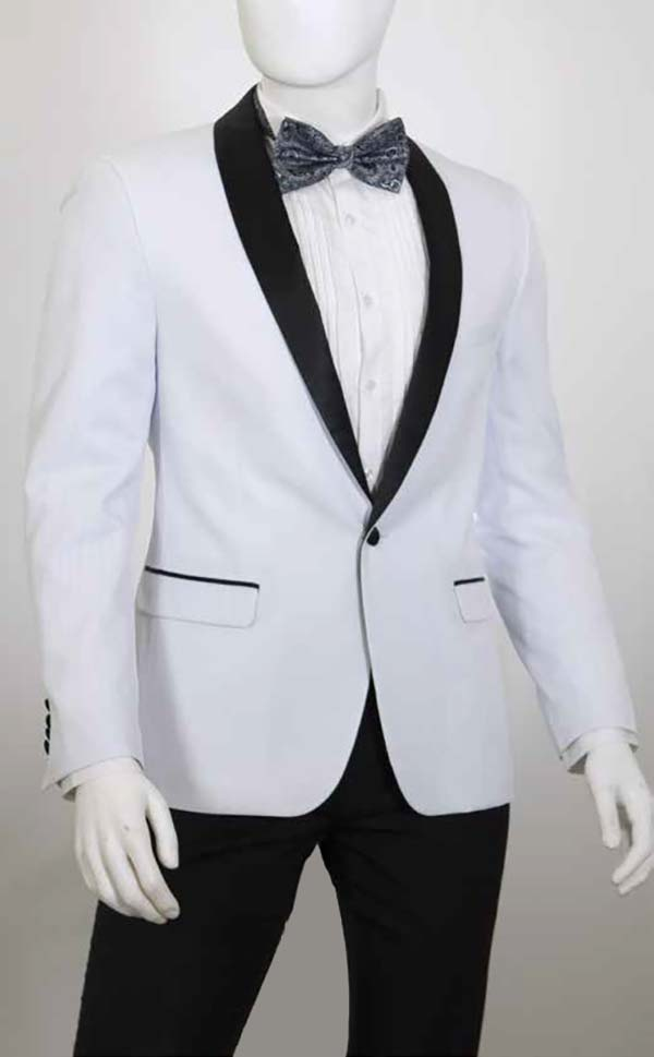 Vittorio St. Angelo YS81A Mens Two-Piece Slim Fit Tuxedo With Shawl Lapel