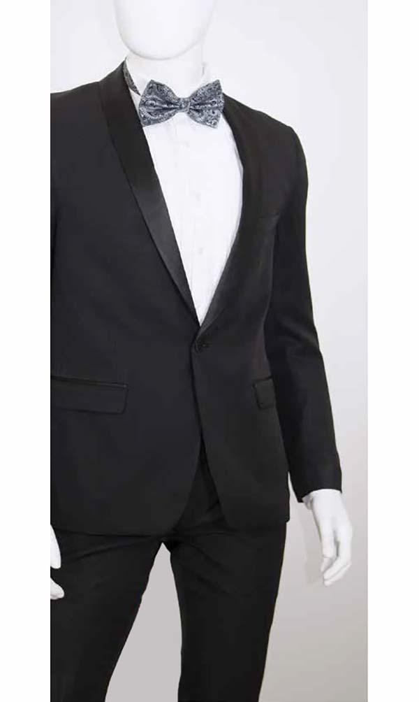 Vittorio St. Angelo YS81B Mens Two-Piece Slim Fit Tuxedo With Shawl Lapel